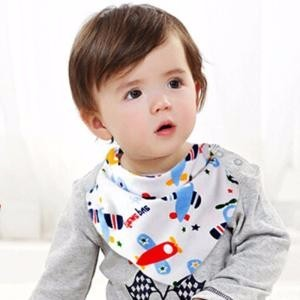 Amazon Hot Sale Cotton Fleece 4-pack Baby Bibs Bandana