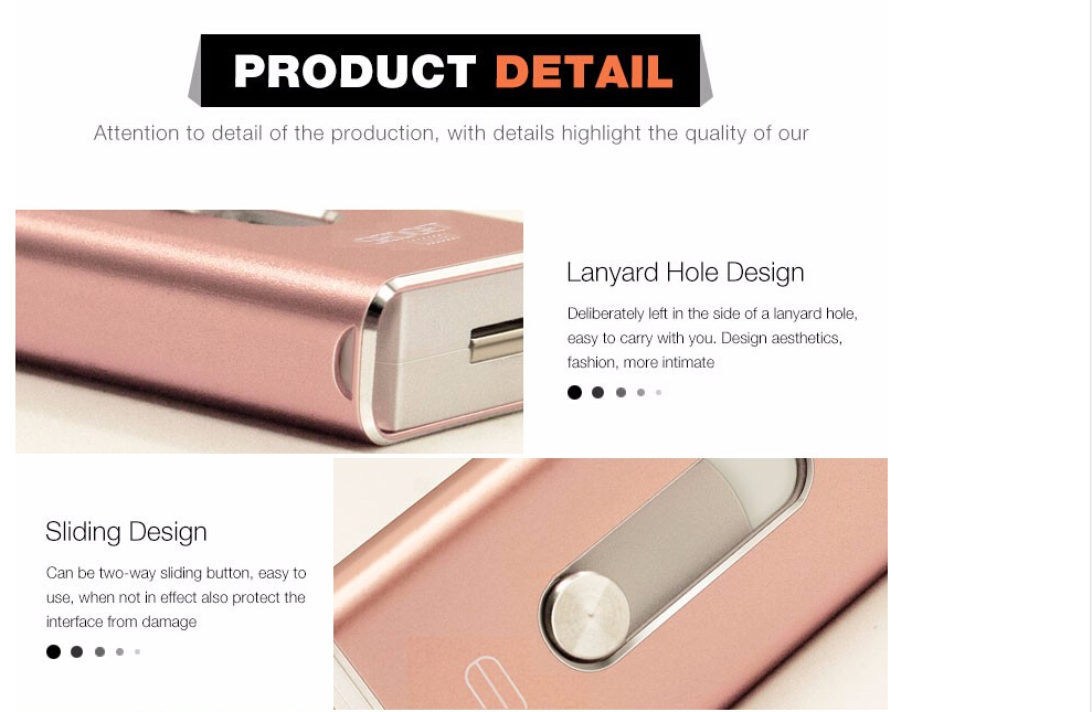 rose gold metal otg usb flash 2.0 drive for iphone/android/PC 32GB 128GB