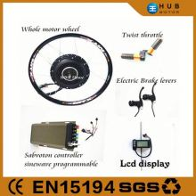 2014 new ! two years warranty 60v-96v brushless hub motor 5000w,electric bicycle bike motor kit
