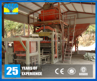 QT8-15 High density used fully automatic mold vibration concrete brick block making machine in Pakistan