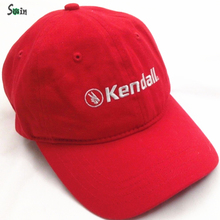 china manufacturer Embroidered red cotton soft baseball caps for racing