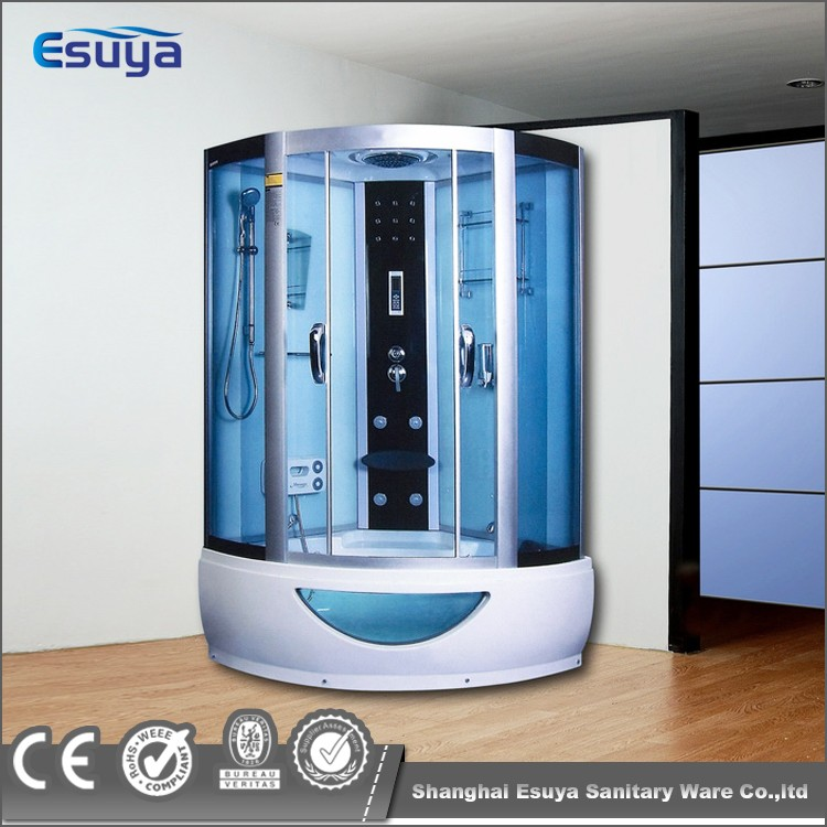 Hotel Use Steam Shower Cabin With Led Background Lamp Feet