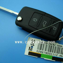 20pcs/lot The cheapest price for VW 3+panic flip key blank , floding casing ,blank ,cover for car key