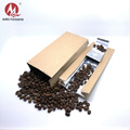 China aluminum foil kraft paper coffee bags brown kraft paper valve bag without zipper pouch