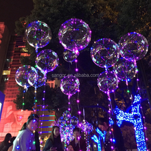18 Inch Clear Foil Helium Christmas LED Bobo Balloons