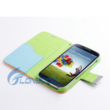 Superior Quality PU Leather Wallet Flip Case for Samsung Galaxy S4 I9500