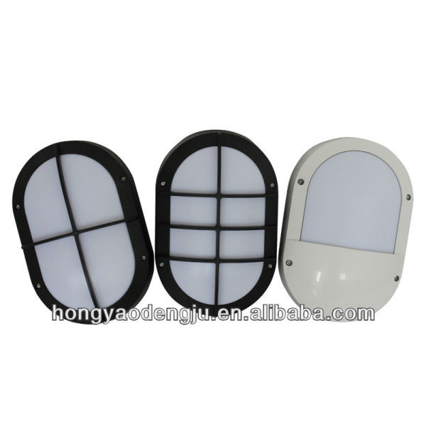 LED Bulkhead lamp aluminium IP54 white black