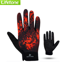 BAT FOX Autumn Cycling Glove Full Finger Polyester Nylon Bicycle Sports Gloves MTB Windproof Silica gel mountain bike gloves