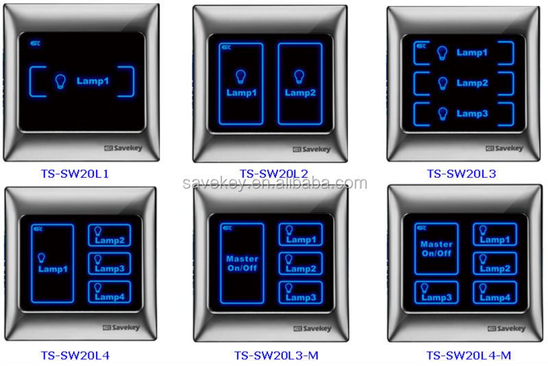 touch screen light switch 220v 4a   gang  with scene key
