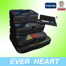 Packing Cubes - 4 pc Value Set - #1 Best Sell in Travel Accessories - Bonus Shoe Bag Included - Lifetime Guarantee
