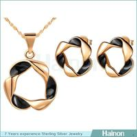 Wholesale gold plating indian bridal round circle jewelry sets online