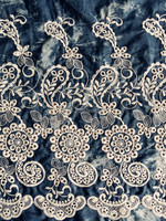 Embroidered design cotton crochet lace fabric for skirt