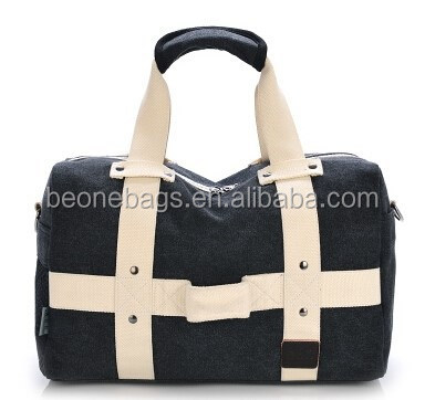 China Wholesale Large Size Canvas Weekend Travel Bags for Men with Mesh Pocket
