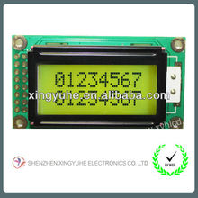 lcd module with capacitor and resistor