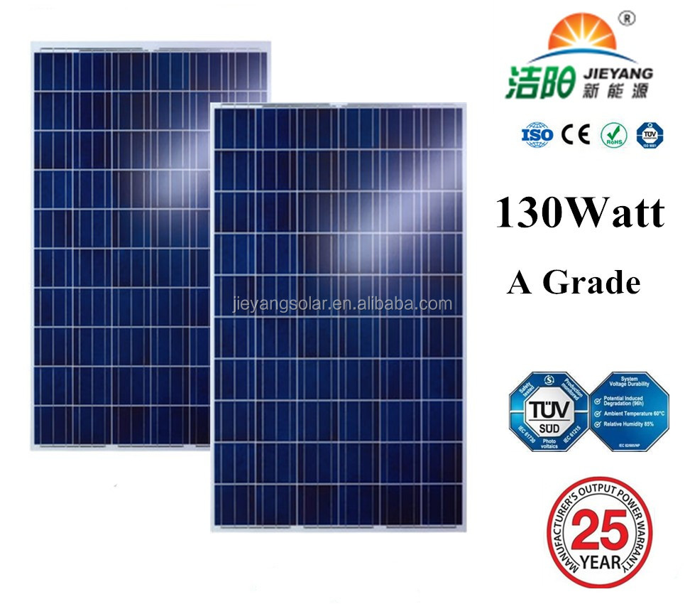 A-Grade Tolerance +/-3% solar panel Real poly 130w solar pv module for solar power station
