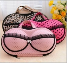 High Quality Travel Portable Round Dot Pattern Simple Multicolor EVA Bra Bag