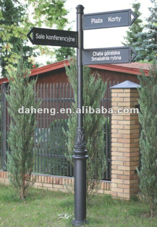 Aluminum Street Traffic Sign Post