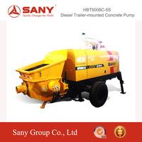 SANY HBT5008C-5S Diesel Trailer-Mounted Concrete Pump of Concrete Mixer Pump Trailer