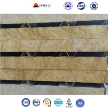 Factory Supply Easy Installed Rockwool Sandwich Panel Fire Rating Sheet Metal