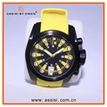 Top quality eco-friendly silicone strap stainless steel + silicone case watch for man from China watch factory