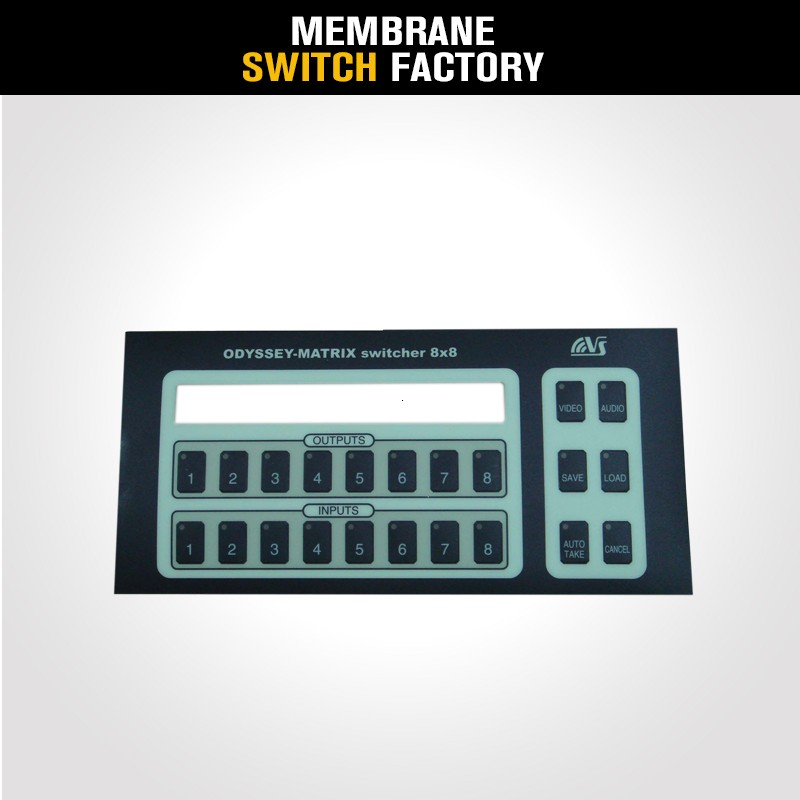 new style sheliding embossing button computer membrane keyboard