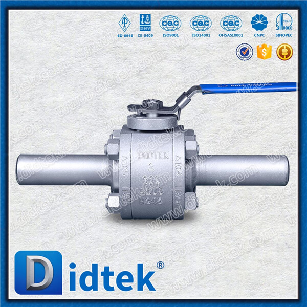 Didtek Forged Sofe Seat Floating Ball Valve 600LB With Pup End 75mm PE,Floating Lever Soft Sealing Ball Valve