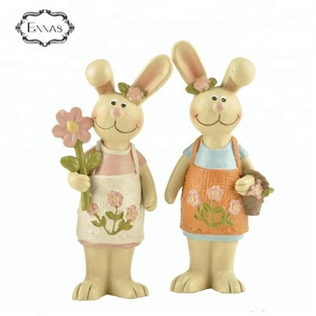Easter rabbit holiday innovative style resin outdoor animal statues bunny for home