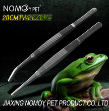 Nomo new products stainless steel pet reptile feeding tweezers/tongs