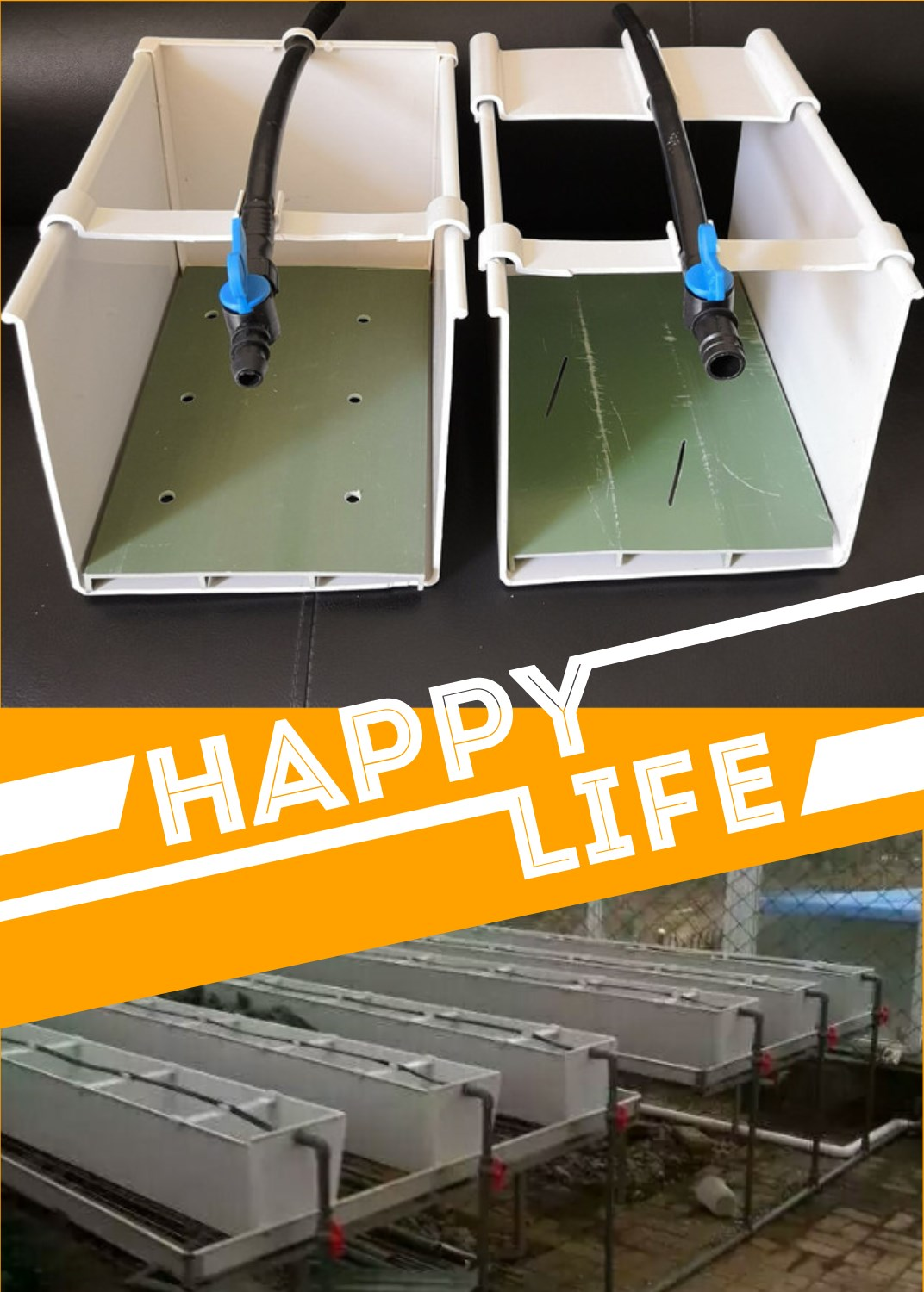 Factory export Hydroponic grow systems PVC plant growing gutter trough