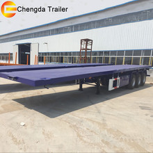 tri-axle 40ft 20ft 45ft container transport flat bed trailer