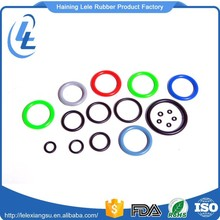 Factory wholesale cheap mold size elastic clear colored rubber o-rings
