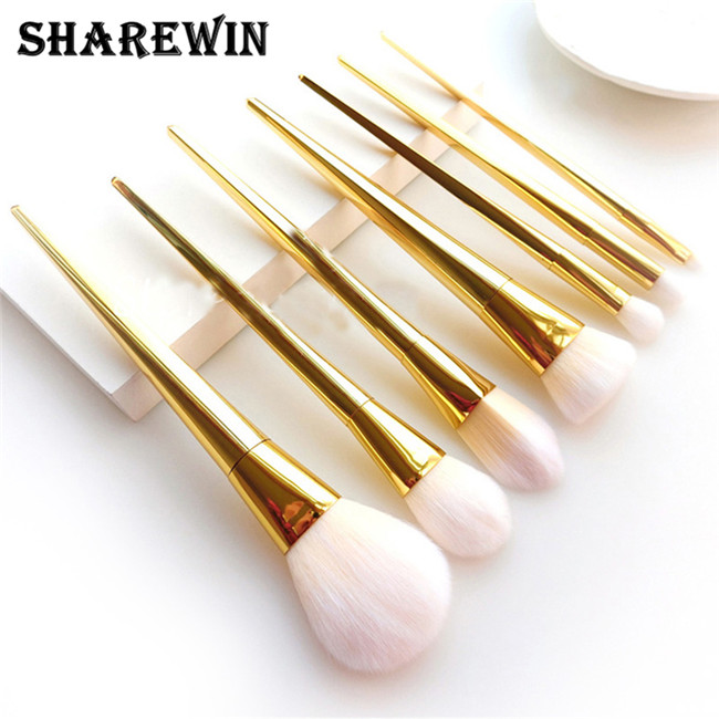 High Quality convinent metal handle professional Makeup Brushes Set real