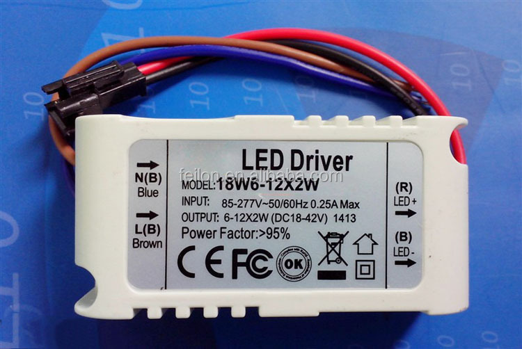 External constant current led drivers waterproof led driver ip67 12W led driver