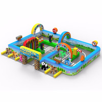 MZAR 2016 newest design inflatable animal fence on park animal inflatable indoor playground