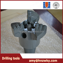 3 baldes pdc drilling drag bit, hot sale high quality drag drill bit, pdc bit