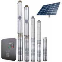 1-140 tons/h DC and AC solar submersible pump price for agriculture irrigation