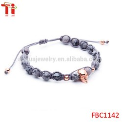 fashion jewelry citi trends jewelry charm bracelet onxy men's stone bead bracelet 316l stainless steel lion head rose gold plate