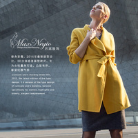 2015 latest fashion korea fashion long coat style dress long parka lapel winter jacket ladies elegant winter coat