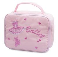 Girls Pink 600D Polyester School Ballet Lunch Box Dance Hand Bag