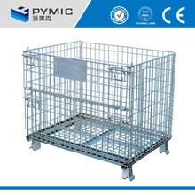 Collapsible breeding cage/oxygen cage/mesh box wire cage metal bin storage container