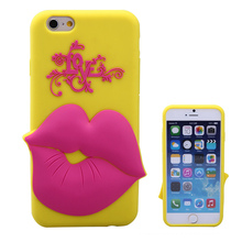 love lip shape 4.7 inch silicone smart phone case for iphone 6
