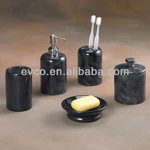 Black Marble Bath Set - Spa Collection