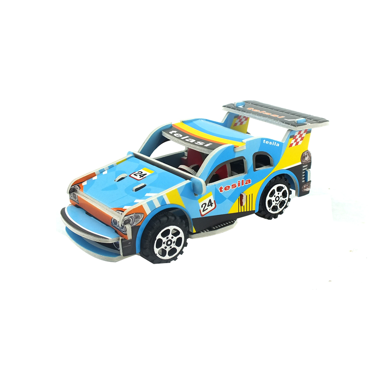 Mini paper Model Car Toys for Collection Pull Back sport Car puzzle Toy,3d puzzles games