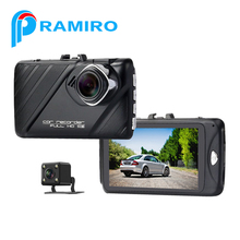 Dual camera dual lens front rear camera NTK car dvr dash cam Driving Recorder support 64GB