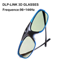 New Lightest (only 32g) stylish vivitek rechargeable 96~144 Hz dlp link 3d glasses