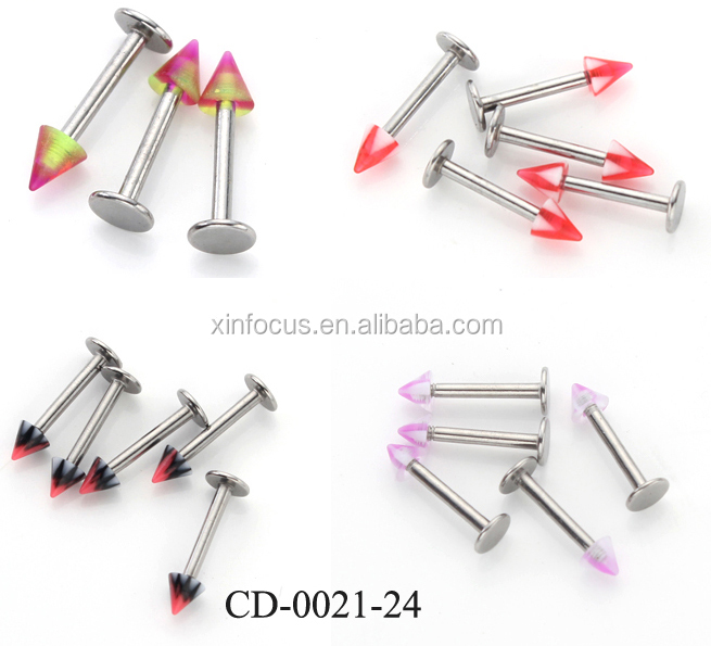 Fashion new design labret ring high quality different kinds piercing body jewelry for your choice