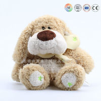 Fair And Lovely Cream Stuffed Plush Yellow Dog Soft Yoy With Scarf