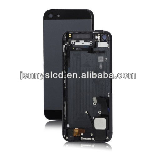 Original mobile back cover housing with parts for iphone 5 black