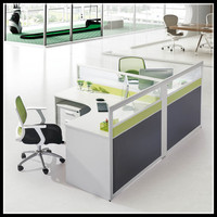 H50-02 Office low partition/office glass wall partitions/cheap used office wall partitions