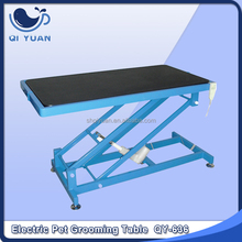 Electric lift dog grooming table